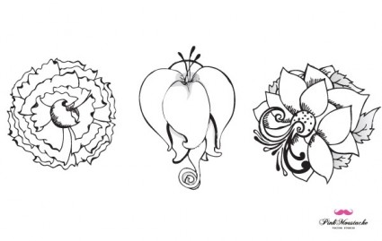 new beautiful vector flowers part