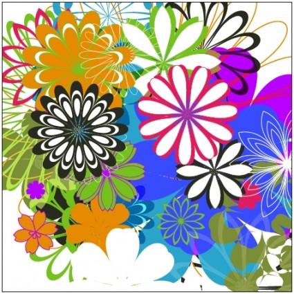 ดอกไม้ส่วนเวกเตอร์สุ่มฟรี