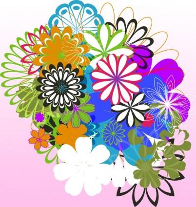 เวกเตอร์ดอกไม้ set2