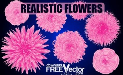 現実的な花をベクターします。