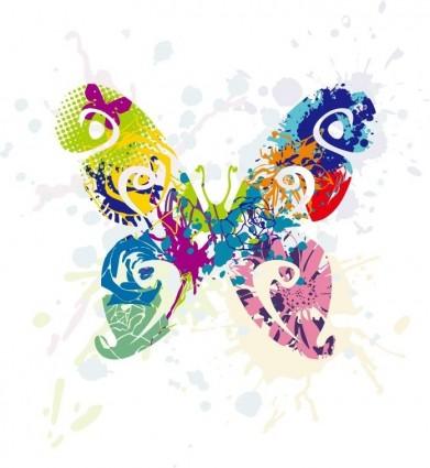 abstrakter Schmetterling Vektorgrafik