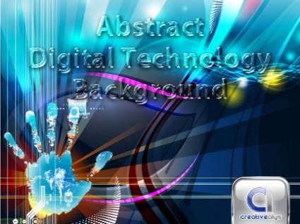 Fondo de vector de tecnología digital abstracta