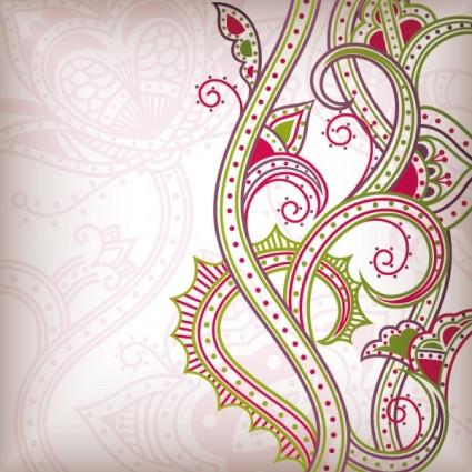 Абстрактный цветочный узор фон вектор