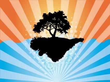 vector árbol abstracto