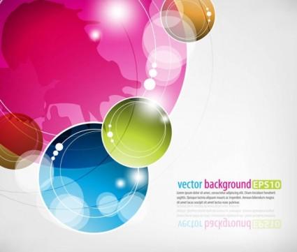 vecteur d'éléments abstraits colorés dynamiques