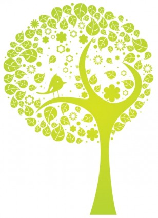 abstrait arbre de vecteur