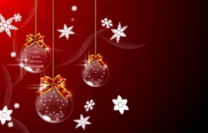 4 christmas hanging ball vector graphics