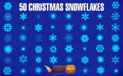 50 christmas snowflakes