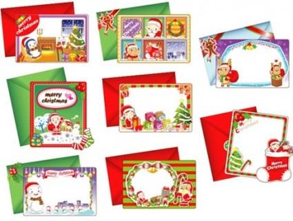 8 sch�ne Weihnachtskarten Vektor