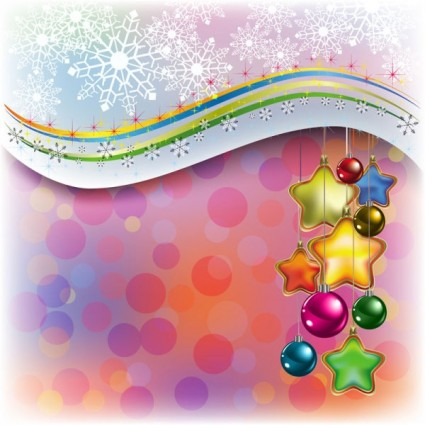 beautiful christmas decoration element vector