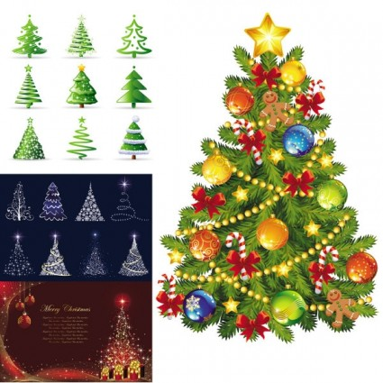 beautiful christmas tree vector