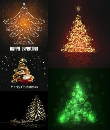 vector de árbol de Navidad de estrellas brillantes