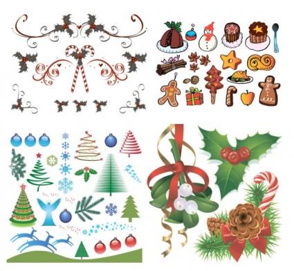 Navidad un grupo de vectores de elementos del vector