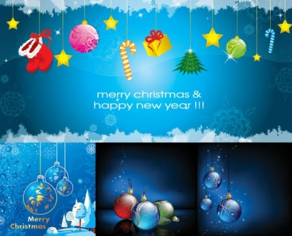 christmas beautiful elements vector