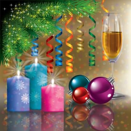 decoraciones de Navidad vector