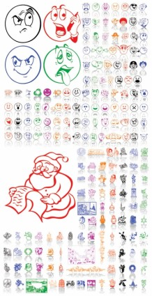 christmas ornaments and expression vector