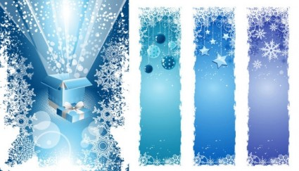 christmas snowflake decorations vector