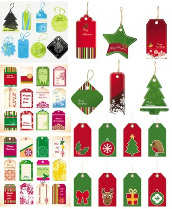 exquisite christmas labels vector