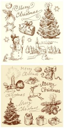 vector de ilustración de Navidad vintage