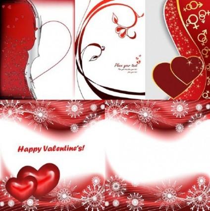 5 red peach heart day clip art