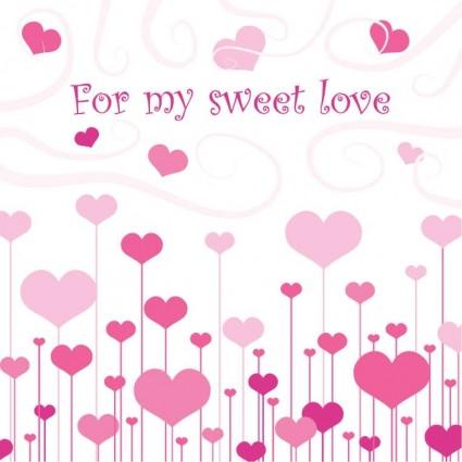 sweet love vector art