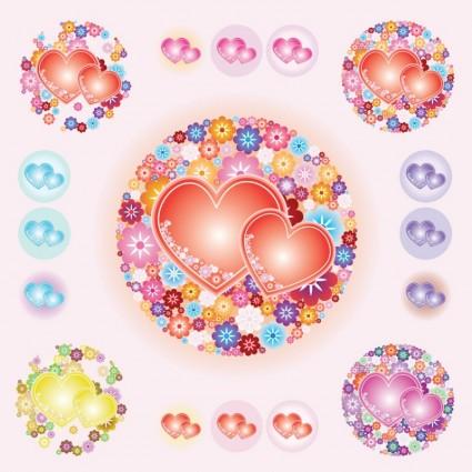 valentine hearts vectors