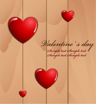 valentine s day love card vector