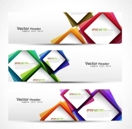 vecteur banner02 graphique moderne abstrait