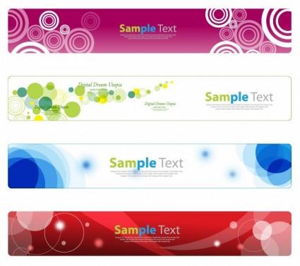 horizontal banner set for web