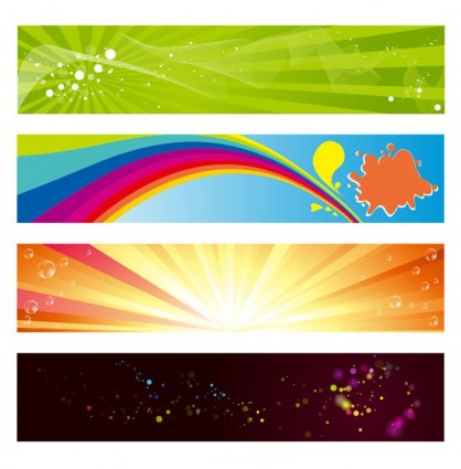 vector horizontal banners set