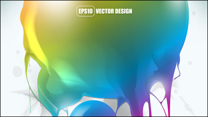 Gorgeous fashion background 02 - vector material