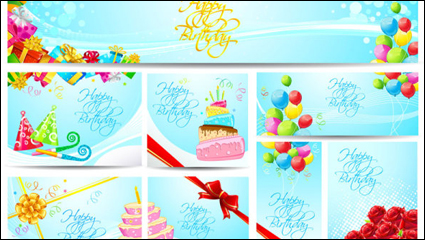 Birthday card - vector material