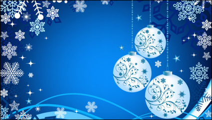 Beautiful Christmas ball background 04 - vector material