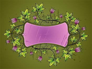 Tulip pattern vector material