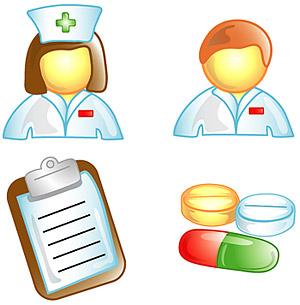 Doctors, nurses icon vector material
