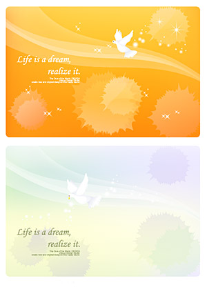 Dreams lines and pigeons vector background material
