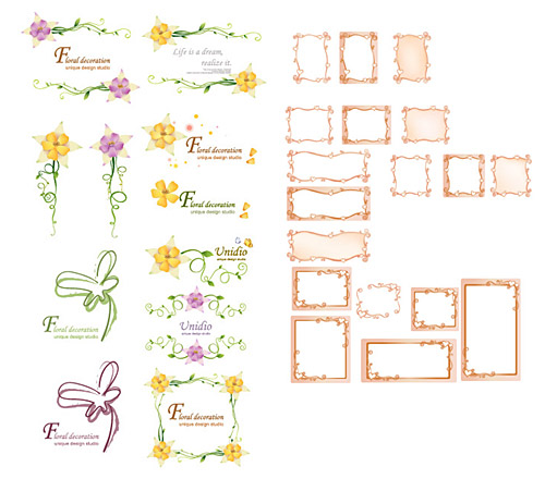 Vector lace material Series-1
