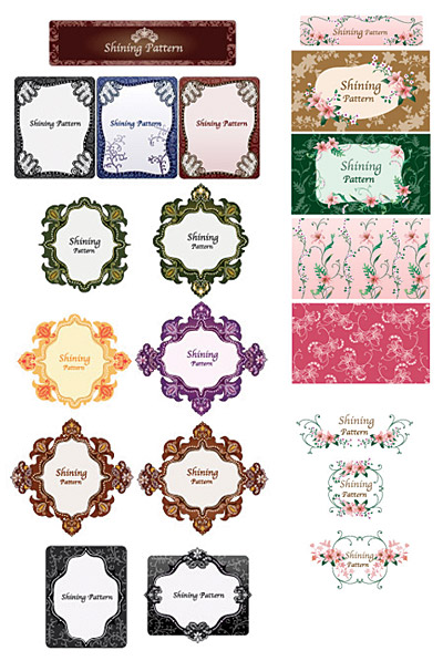 Vector lace material Series-3