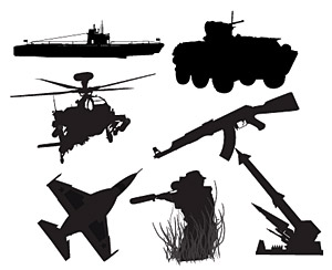 Pictures Vector military weapons material
