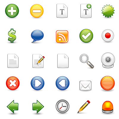 web2.0 web design icon vector commonly used material