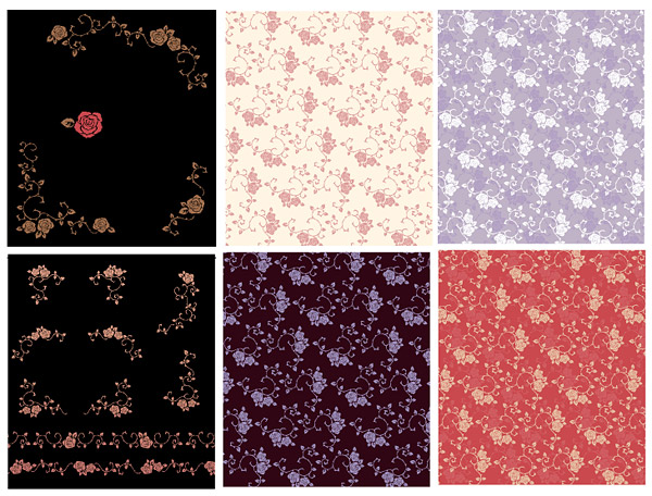 Vector background patterns-37