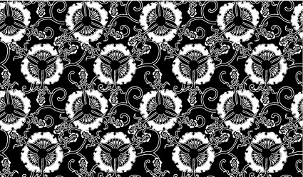 Vector traditional tiled background material-12
