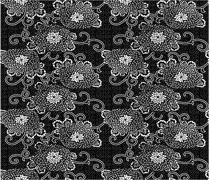 Vector traditional tiled background material-20