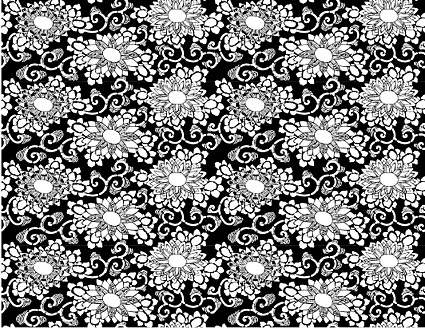 Vector traditional tiled background material-23