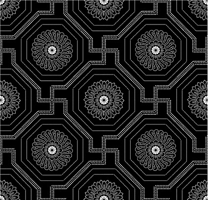 Vector traditional tiled background material-35