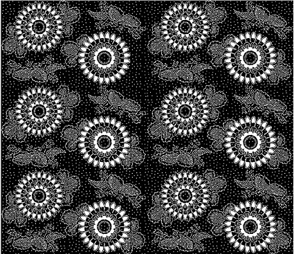 Vector traditional tiled background material-37