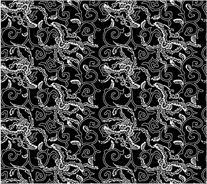 Vector traditional tiled background material-39