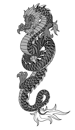 Chinese Dragon Vector-2