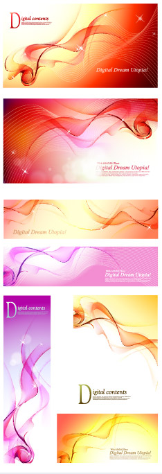 Fantasy red smoke background material vector