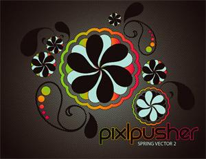 Spring pattern vector material